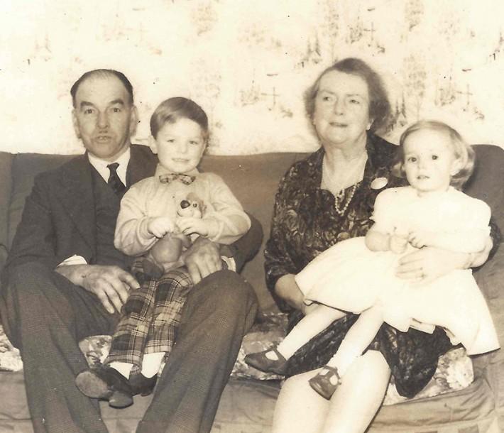 Gran, Grampa, David & Susan 1962