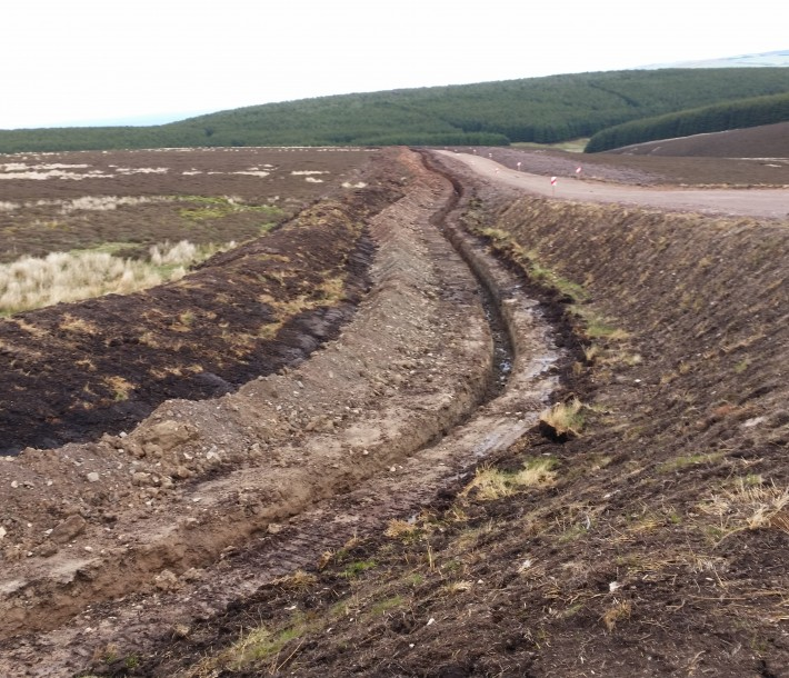 Trench dug ready for the cable run. June - 2015